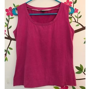 Lafayette 148 Pink/Magenta Sleeveless Top - Small